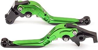 Tencasi Vert Court Rhombe Creux Leviers de Frein dembrayage pour Kawasaki Z1000SX//NINJA 1000//Tourer 2011-2016 Z750R 2011-2012
