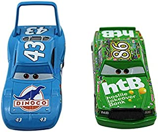 Pixar Cars Toys Diecast King & Chick Hicks Metal 1:55 Scale