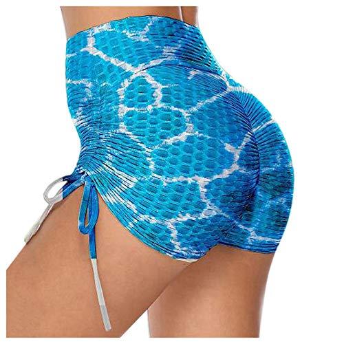 Mujeres Color puro Geométrico Impreso Correa de costura Entrenamiento Fitness Deportes Super Corto Stretch Yoga Pantalones
