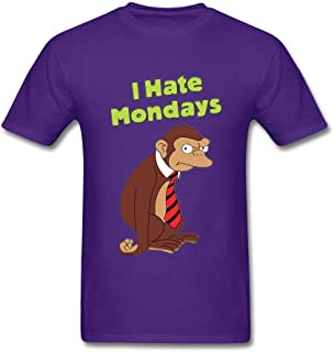 SCShirt Men's I Hate Monday Monkey Graphic Custom Short Sleeve Tshirt