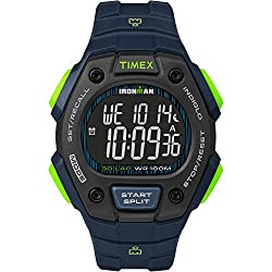 powerful Timex TW5M18800 Iron Man Classic 30 Men's Watch with Blue / Lime / Negative Polymer Strap