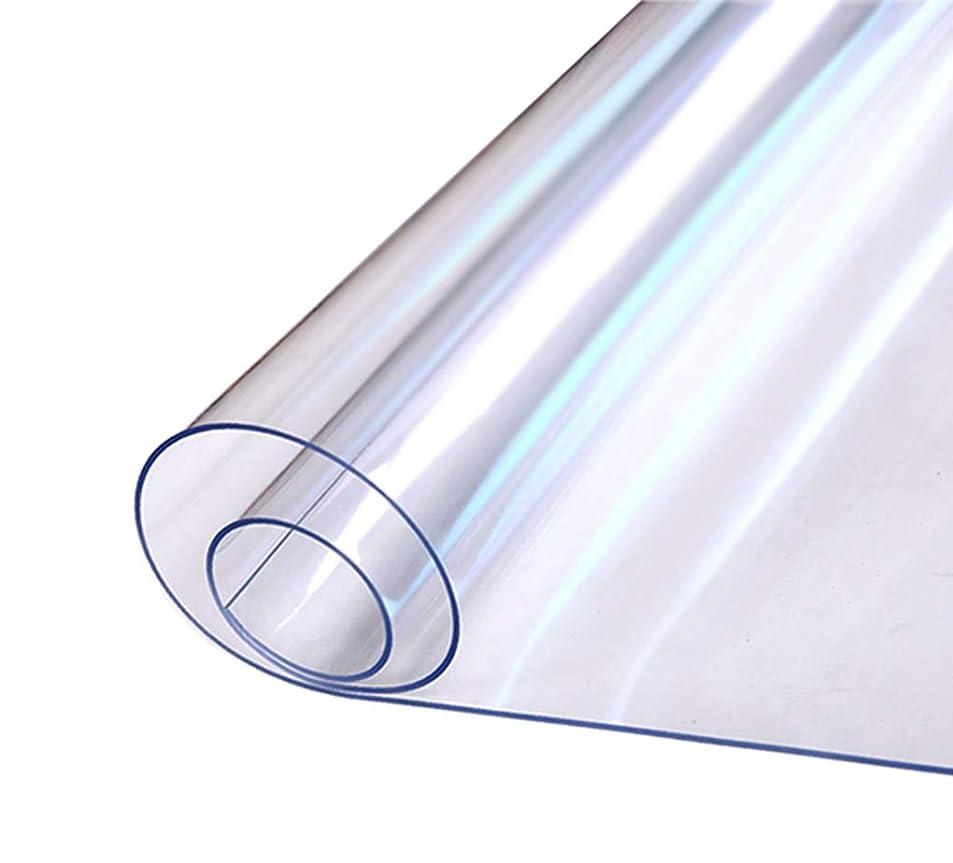 刺すスーパーマーケット呪いEGROON PVC製 ホーム チェアマット ラグ カーペット マット 長方形 厚さ2mm 透明 床保護マット チェアマット 汚れ防止 お手入れ簡単 撥水 耐久