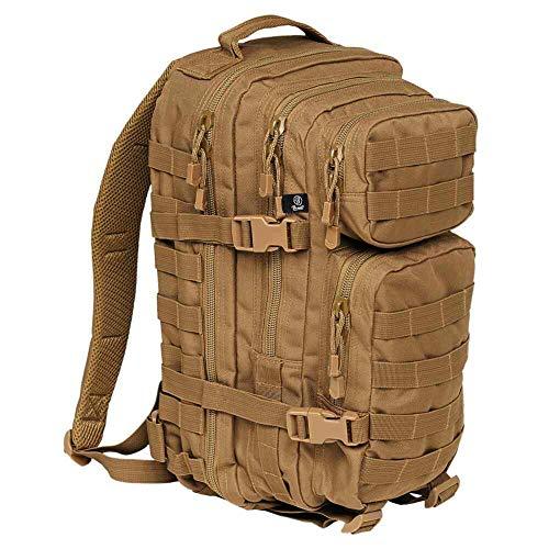 K&S Outdoors Mochila militar militar Molle de 25 l, 40 l, 65 l, color negro, verde oliva, arena, para caza, senderismo, trekking, día y semana., Unisex adulto, marrón claro, Medium - 25L