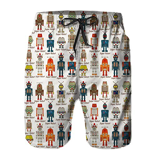 YZBEDSET Bañador De para Hombre Pantalones Playa Shorts,Secado Rápido Ligero Baño Cortos S