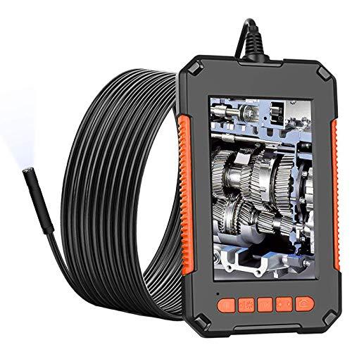 Industrieendoskop, 1080P Endoskopkamera, 4,3 Zoll Bildschirm Endoskop mit 10 Meter halbsteif Kabel, 8 Einstellbaren LED-Licht Inspektionskamera, 2600mAh Akku, IP67 Wasserdicht Digitales Endoskop