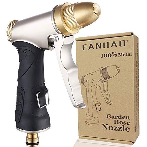 FANHAO Garden Hose Spray Gun, 100% Heavy Duty Metal Water Gun Sprinkler...