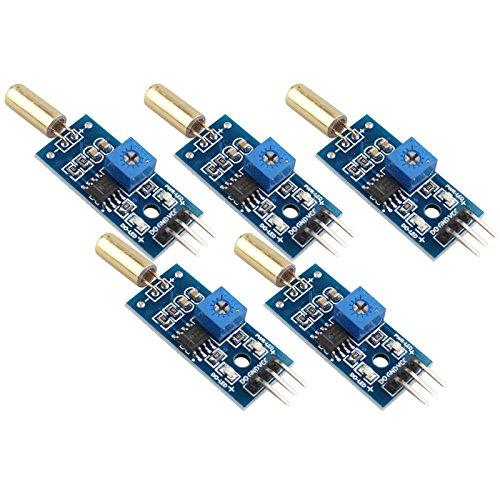 HALJIA 5pcs ángulo SW-520D Sensor Junta Módulo de sensor de inclinación SW520D de alta sensibilidad