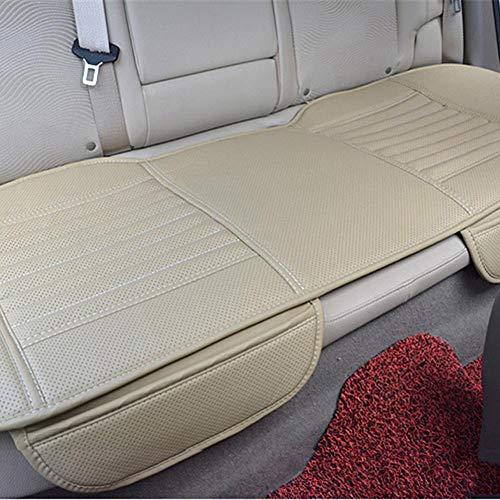 Bamboe houtskool auto stoel kussen, PU lederen bamboe houtskool auto stoel beschermer, alle seizoenen voor auto benodigdheden auto stoel