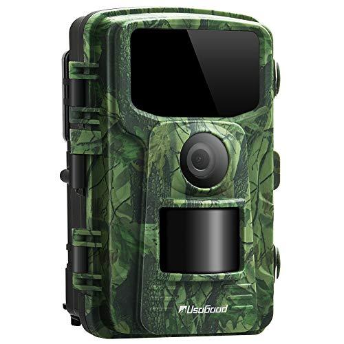 usogood Cámara de Caza 14MP 1080P Cámara de Vigilancia con Visión Nocturna Trail Cámara IP66 Impermeable Invisible 2.4 '' LCD para Monitoreo de Vida Silvestre y Seguridad en el hogar