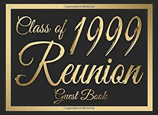 Class of 1999 Reunion Guest Book #6: A graduate party themed guest book with guest prompts.