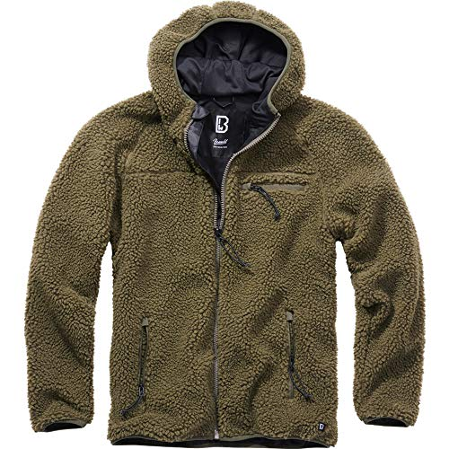 Brandit Teddyfleece Worker Jacket, Oliv, Größe L