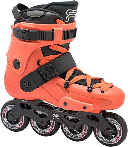 FR Skates FRX Orange 80 2019 - Inline Skates for Freeride, Slalom, City Skating. Popular French Brand (M US 10 / EU43)