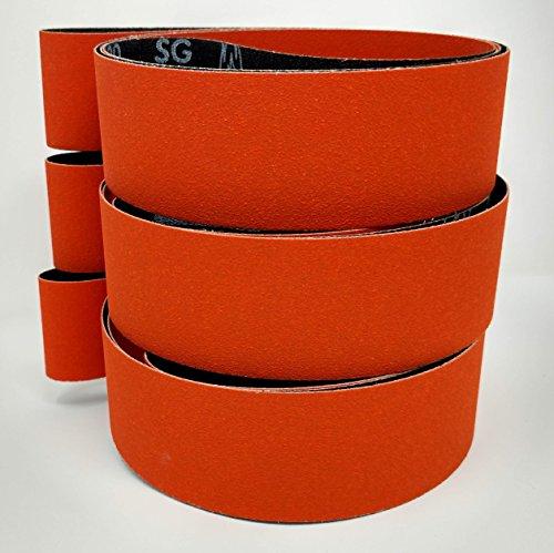 Norton Blaze 2x72 Premium Ceramic Sanding Sharpening Belts 3 Pack with 36 Grit, 80 Grit, 120 Grit Belts