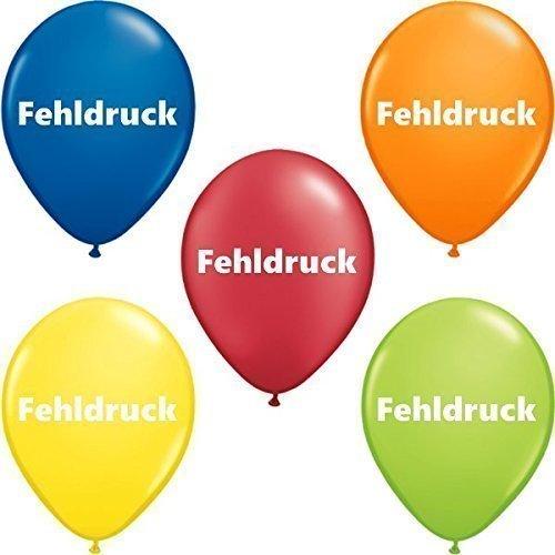 partydiscount24 Luftballons Fehldrucke - Bunt gemischt - Verschiedene Größen - 1 kg