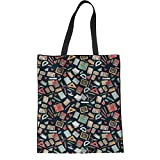 Coloranimal Bolsa de tela y de playa, Teacher Pattern (Multicolor) - K-H8535Z22