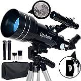 Upchase Telescopio Astronomico, 300/70mm Negro,...