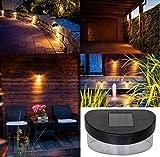 Monster24 6er-Set Solar LED Leuchte für außen mit Dämmerungs-Automatik Gartenleuchte Haus Garage Terrasse Balkon Garten Wand Zaun Treppe Stufen Lampe Licht Sensor Ambiente Beleuchtung Dekoration