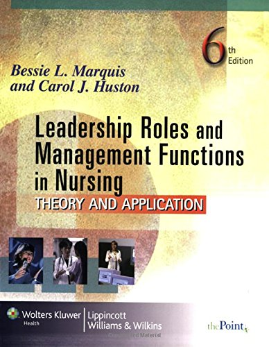 Price comparison product image Leadership Roles and Management Functions in Nursing: Theory and Application (Marquis