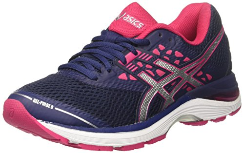 ASICS Damen Gel-Pulse 9 Laufschuhe, Blau (Indigo Blue/Silver/Bright Rose 4993), 37.5 EU