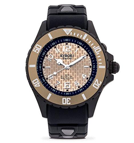 KYBOE! Black Dune - Reloj de cuarzo para mujer, 40 mm, acero inoxidable y silicona