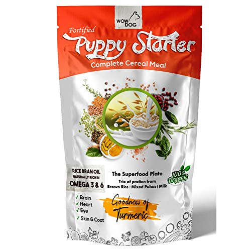WOW DOG Complete Fortified Nutrition Puppy cerelac Starter Dog Food Weaning Diet for The Age of 15 Days to 2 Months- 400 Grams