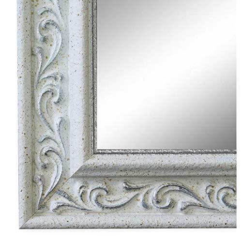 Online Galerie Bingold Spiegel Wandspiegel Weiß Silber 40 x 60 cm - Barock, Antik, Landhaus, Vintage - Alle Größen - Massiv - Holz - AM - Verona