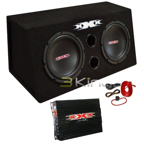 "XXX XBX-800B 2) DUAL 8"" 800W Car Audio Subwoofers Subs/Amplifier/Amp Kit/Sub Box"