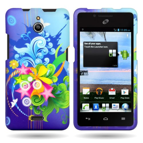 Huawei H881C Case, CoverON [Snap Fit Series] Hard Design Slim Protective Phone Cover Case for Huawei Ascend Plus H881C - Floral Burst