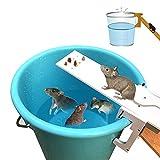 Piège à Rats en Bois - Piège à Rats à Réinitialisation Automatique, Piège à rat Baril, Tuez ou capturez des souris et d'autres parasites et rongeurs