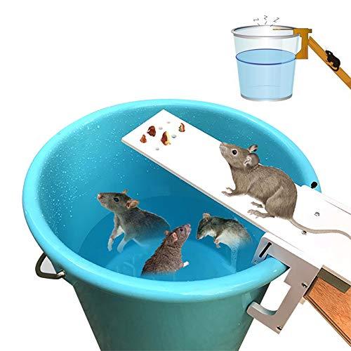 Pawaca - Trappola per topi a forma di asse, con riposizionamento automatico, umana: non uccide,Ecologica e riutilizzabile