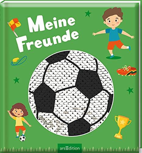 Meine Freunde - Fußball (mit Wendepailletten): Freundebuch für Mädchen und Jungen