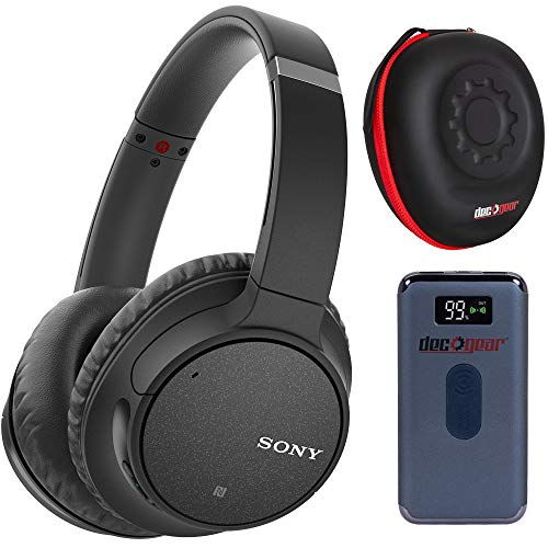 Sony WH-CH700N Wireless Bluetooth Headphones - Black with Deco Gear Pro Go Bundle