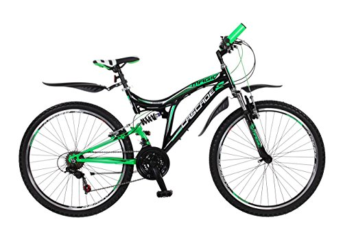 Frank Bikes 26 Zoll Kinderfahrrad Mountainbike Fahrrad Vollgefedert Jugendfahrrad Kinderrad Rad Shimano 18-Gang X-Treme