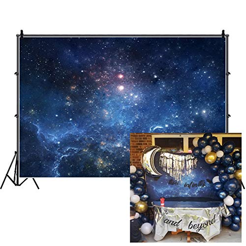 AOFOTO 7x5ft Fantastic Nebula Backdrop Aerospace Starry Sky Photography Background Universe Galaxy Cosmos Outer Space Milky Way Science Fiction Child Adult Portrait Photo Studio Props Vinyl