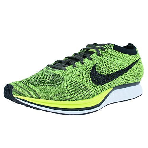 Nike Flyknit Racer - Running Shoes, Man, Color Green (Volt/Black-Sequoia), Size 39