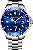 Stuhrling Original Ed. Ltd Reloj de Buceo Cuerda Automática para Hombre con Dial Azul Oscuro...