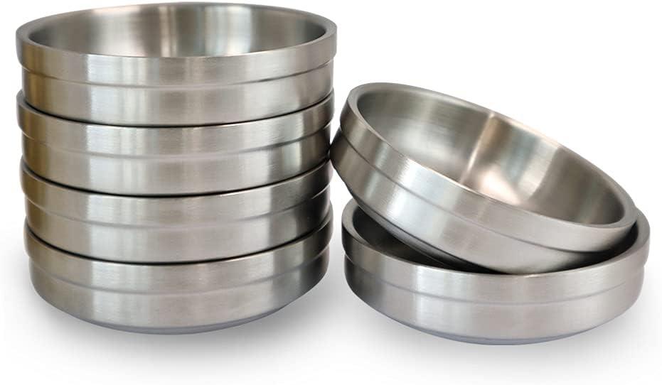 6PCS Double Deck Stainless Steel Round Ranking TOP15 Wholesale Dish Sauce Condimen Mini