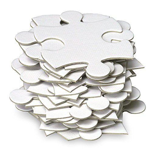 Jigsaw2order Extra Large Blank Puzzle, Wedding Guest Book Puzzle, 105 Large Numbered Blank Puzzle Pieces, Size 18 x 37in