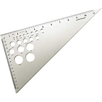 "Ludwig Precision 12"" 30-60-90-Degree Aluminum Drafting Triangle, 83012"