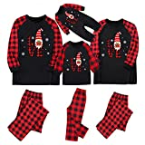 Alueeu Pijamas Navidad para Familias Moon Suave y Cómodo Ropa de Dormir Manga Larga con Estampado Pijamas Navidenos Familiares riou