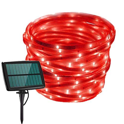 SILOLA Lumière de Bande Solaire à LED, lumière de Corde Flexible étanche Solaire 5M 150LED pour Jardin, Cour, Chemin, Patio, fête