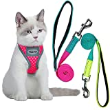 Prevent Choking Harness and Comfortable - Lightweight soft breathable texture with no frayed/unsecured edges or buckles to irritate skin, reduces tugging and pulling and no choke on your pet's neck. Omnidirectional Reflective - Compare to other parti...