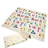 Alfombra de juegos para bebé, plegable, de espuma extragrande, reversible, adecuada para niños y bebés (sección de 1,5 cm)