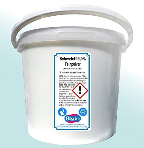 Schwefelpulver 4 kg im 5 Liter Eimer Schwefel-Fein-Pulver gereinigt und sehr fein