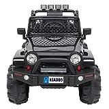 S& Coche de juguete de control remoto de todo el país, mando a distancia Jeep doble unidad 45 W * 2 baterías 12V7AH con control remoto de 2.4G impacto en cuatro ruedas, color negro