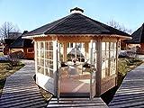 Pavillon aus Fichtenholz. Einfache Montage. Ideal für Partys, Hochzeiten und für andere Anlässe.
