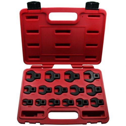 Spezialeinsatz IMPACT Hahnenfuß Krähenfuß Steckschlüsseleinsatz/Steckschlüsselsatz Stecknüsse 10 mm - 26 mm 15 tlg. Inkl. robuste Kunststoffbox