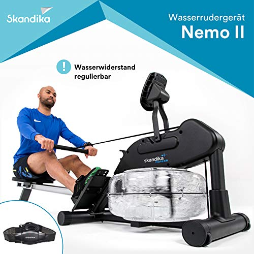 Skandika Nemo II Aqua Rower Liquid Rowing Machine