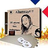 Encendedor ecológico. Pack de 30 unidades. Fabricado en Francia. Encendido rápido de fuegos: chimenea, estufa, horno de leña, camping y BBQ, fácil esfuerzo, de forma segura y natural, 0 olor.