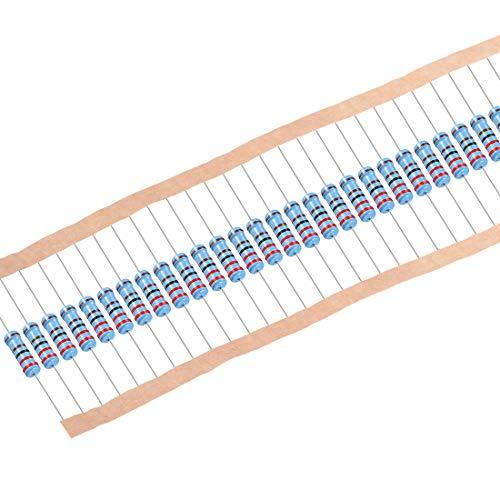 sourcing map 30 Stk.Metall Film Resistors 2.2K ohm 1W 1{37fadb5952add5ca37ea0cc856cea8b4c88f38258784b19c133ff26ca172ce73} Toleranz 5 Farbe Band de